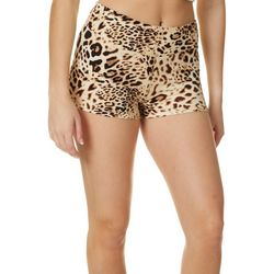 Hot Kiss Juniors Cheetah Print Pull On Shorts