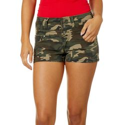 Hot Kiss Juniors Camo Print Stacked High Waist