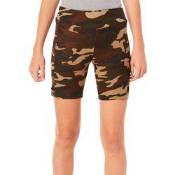 Hot Kiss Juniors Camo Print Caged Mesh Shorts