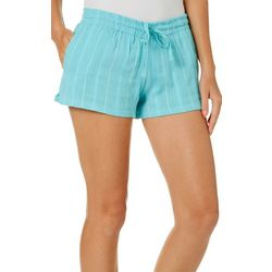 Exist Juniors Textured Striped Pull On Shorts