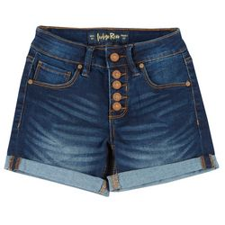 Indigo Rein Juniors Button Fly Cuffed Denim Shorts