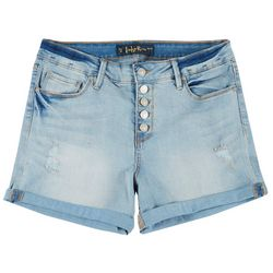 Indigo Rein Juniors Button Fly Cuffed Shorts