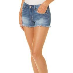 Indigo Rein Juniors Frayed Hem Denim Shorts