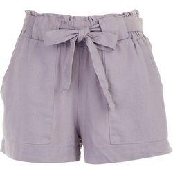 Indigo Rein Juniors Solid Tie Waist Fabric Shorts
