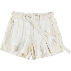 Indigo Rein Juniors Paperbag Striped Shorts