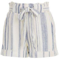 Indigo Rein Juniors Striped Tie Waist Shorts