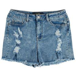 Indigo Rein Juniors Distressed Frayed Shorts