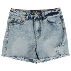 Indigo Rein Juniors Acid Frayed Shorts