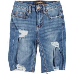 Juniors Deconstructed Bermuda Shorts