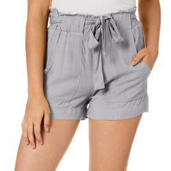 Indigo Rein Juniors Belted Solid Woven Shorts