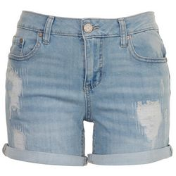 Indigo Rein Juniors Stretchy Whisked Denim Shorts