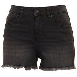 Indigo Rein Juniors Stretchy Frayed Denim Shorts