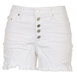 Indigo Rein Juniors Stretchy Buttoned Denim Shorts