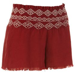 Indigo Rein Juniors Solid Smocked Waist Shorts