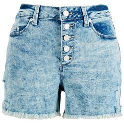 Indigo Rein Juniors Faded Buttoned Denim Shorts