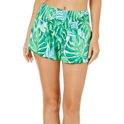 Derek Heart Juniors Tropical Palm Leaf Soft Shorts