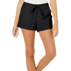 Derek Heart Juniors Solid Roll Cuff Drawstring Shorts