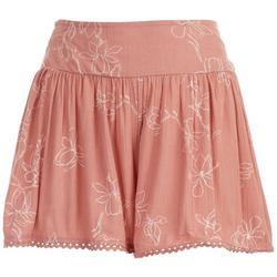 Juniors Floral Shorts