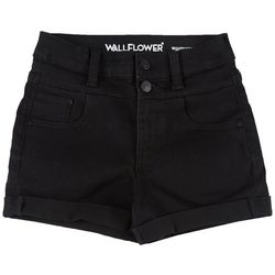 Wallflower Juniors Shorty Short High Rise Black Shorts
