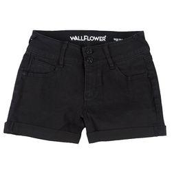 Wallflower Juniors Shorty Short Mid-Rise Black Shorts