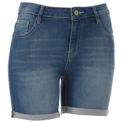 Wallflower Juniors Roll Cuff Denim Shorts