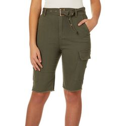 Almost Famous Juniors Super High Waisted Bermuda Shorts