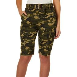 Almost Famous Juniors Camo Super High Waisted Bermuda