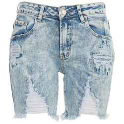Almost Famous Womens Bermuda Ripped Shorts