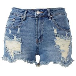 Almost Famous High-Rise Denim Distressed Shorts