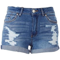 Almost Famous Womens Cuffed Shorts