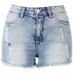 Almost Famous High-Rise Distressed Shorts