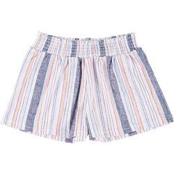 Full Circle Trends Juniors Smocked Waist Shorts