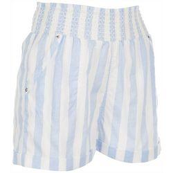 Jolie & Joy Juniors Smocked High Waist Shorts