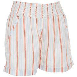 Full Circle Trends Juniors Thin Stripe Paperbag Shorts