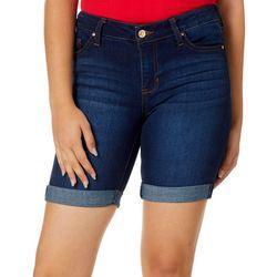 Celebrity Pink Juniors Solid Roll Cuff Bermuda Shorts
