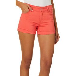 Celebrity Pink Juniors Roll Cuff Colored Denim Shorts