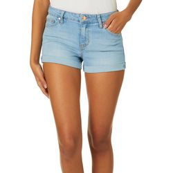 Celebrity Pink Juniors Roll Cuff Denim Shorts