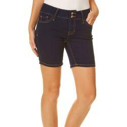 Blue Desire Juniors Curvy Shortie Denim Shorts