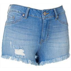 Rewash Juniors Frayed Hem Shorts