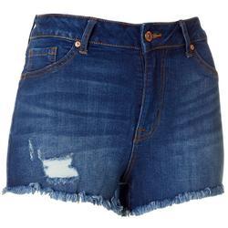 Juniors Frayed Hem Shorts