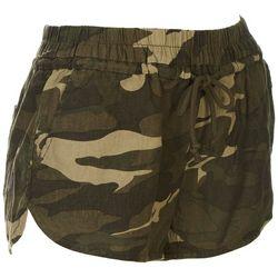 Rewash Juniors Camo Linen Beach Shorts