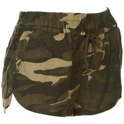 Juniors Camo Linen Beach Shorts