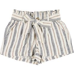 Rewash Juniors Striped Button Tie Fabric Shorts