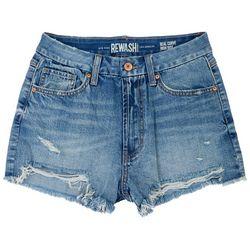 Rewash Juniors Teal Curves Denim Shorts