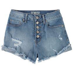 Rewash Juniors The Riley 5-button Closure Denim Shorts