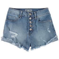 Juniors The Riley 5-button Closure Denim Shorts