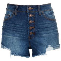 Rewash Juniors 5-button Waist Closure Denim Shorts