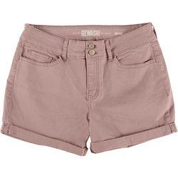 Rewash Juniors Ultra Stretch Midi Rise Colored Shorts