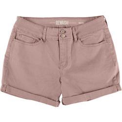 Juniors Ultra Stretch Midi Rise Colored Shorts