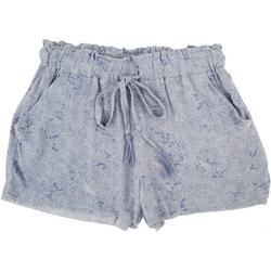 Juniors Crinkle Elastic Waist Shorts